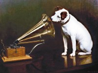 His Masters Voice, painting by F. Barraud, 1898