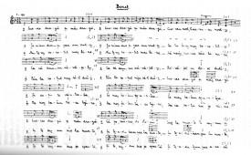 Transcription synoptique d'une lamentation, par Constantin Brăiloiu